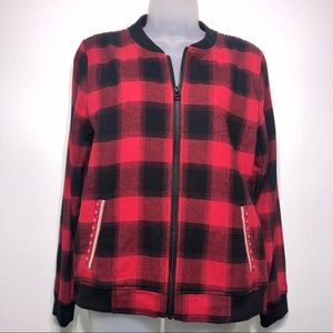 Ruff Hewn Buffalo Check Jacket Size Medium